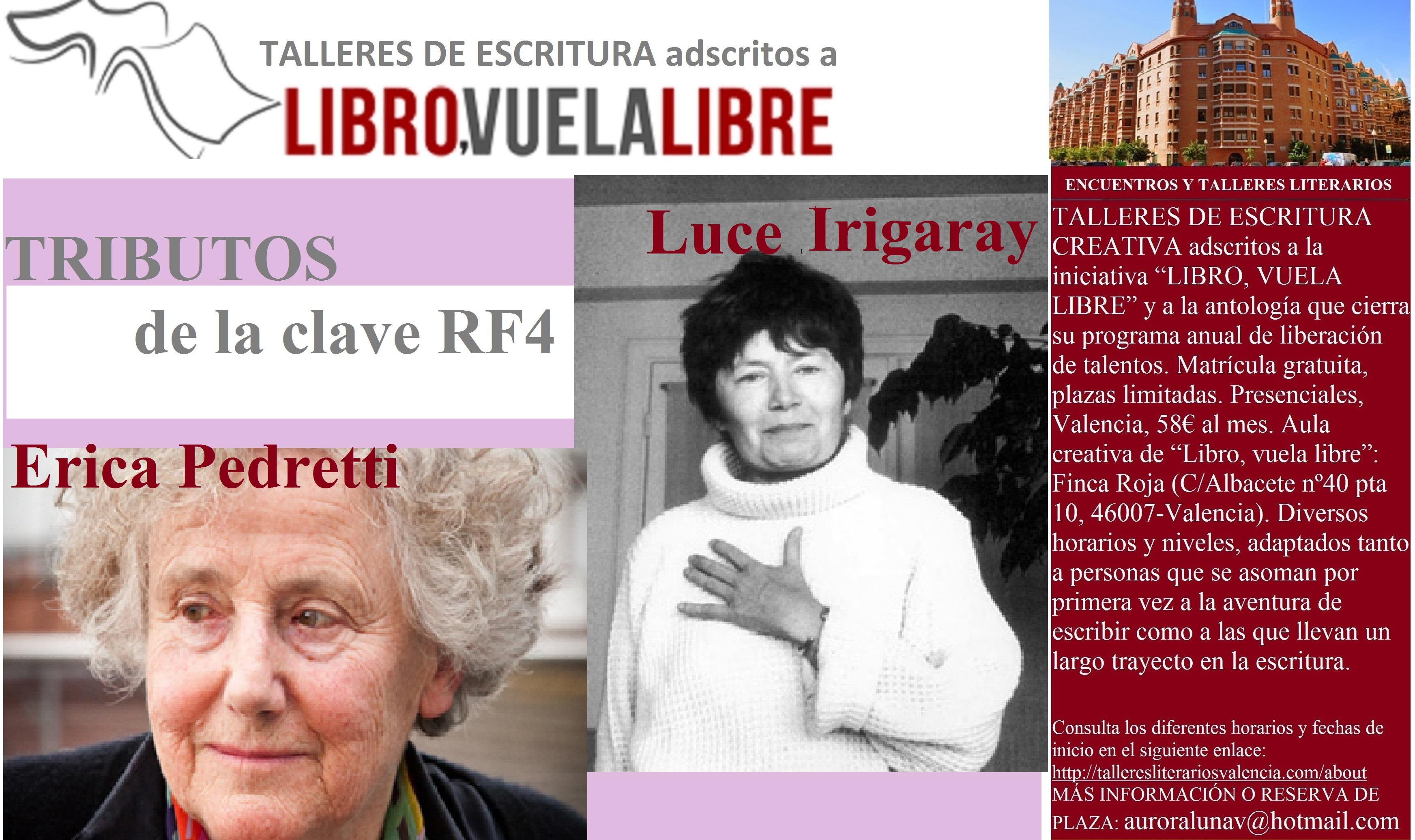 CLAVE RF4. Ejercicios del taller de escritura creativa y tributos literarios de LIBRO, VUELA LIBRE en curso