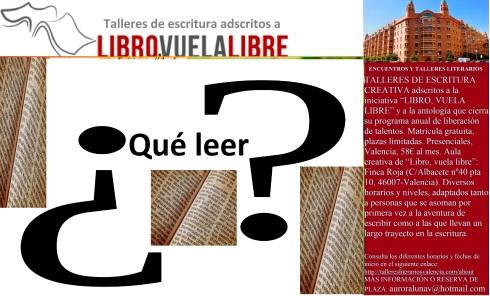 clubes de lectura en Valencia de LIBRO, VUELA LIBRE