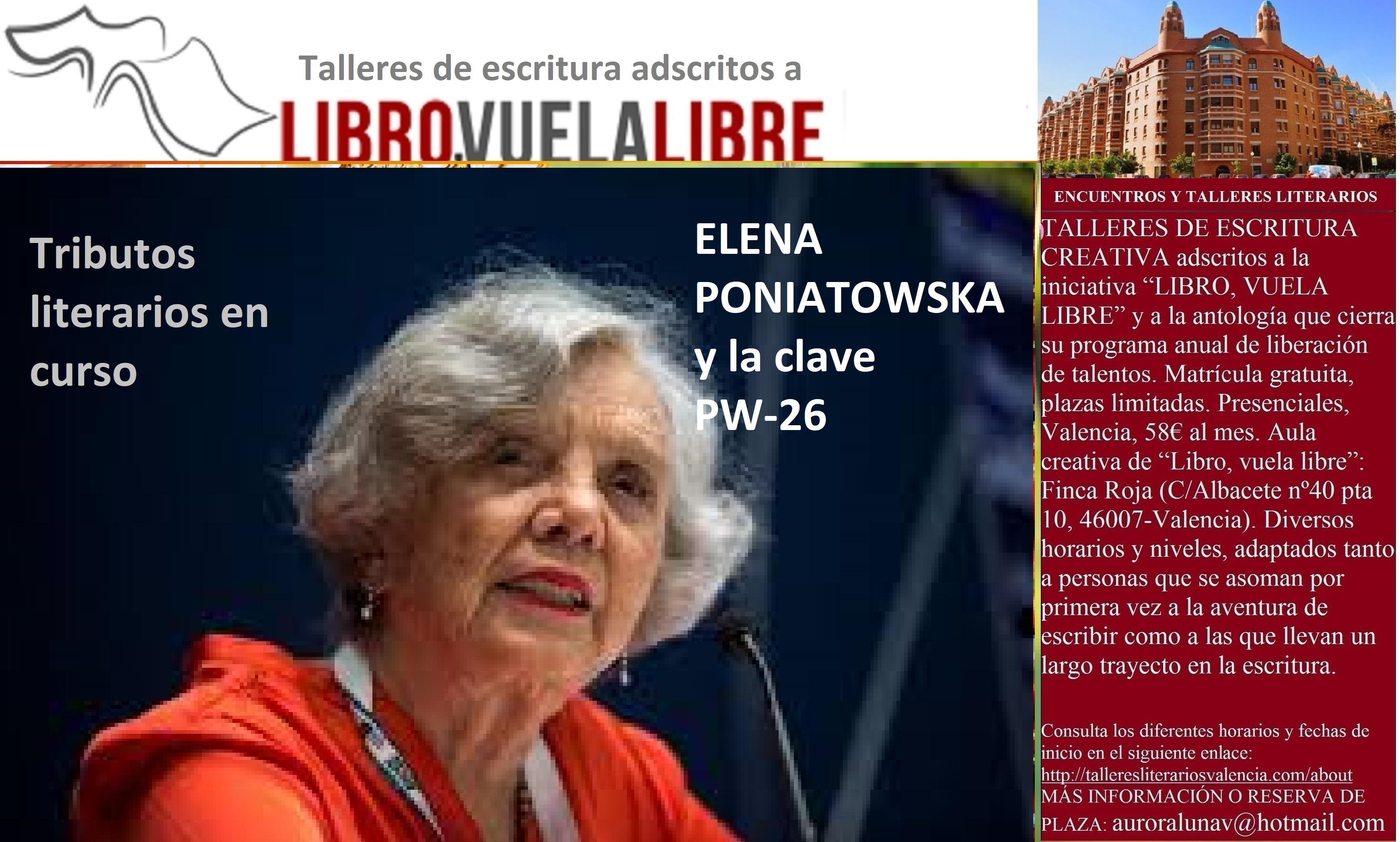 Club de lectura: ELENA PONIATOWSKA y la clave PW-26