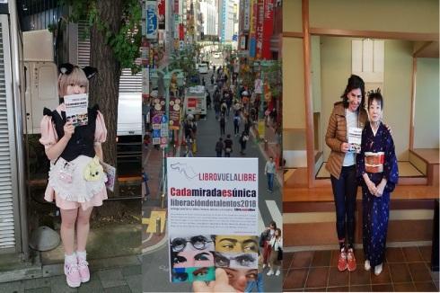 Las cadenas internacionales de los talleres literarios de LIBRO, VUELA LIBRE llevan su antología a Japón