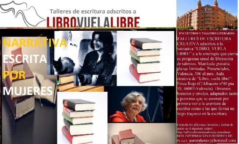 Narrativa escrita por mujeres en el club de lectura en Valencia de LIBRO, VUELA LIBRE