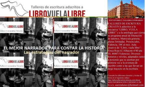 Taller de escritura en valencia de LIBRO, VUELA LIBRE, el mejor narrador