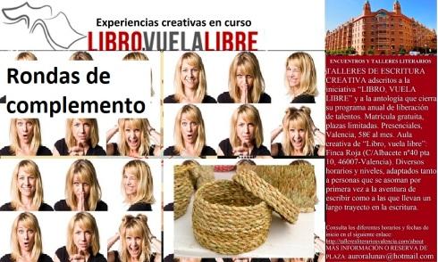 Experiencias creativas y rondas de complemento de los talleres de escritura creativa de LIBRO, VUELA LIBRE en Valencia