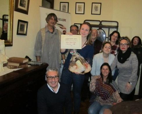 Sofía Ramos Antón, ganadora de los torneos de los talleres literarios de LIBRO, VUELA LIBRE en Valencia