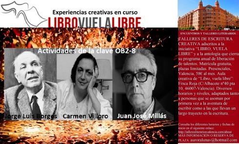 Actividades de escritura en los talleres de creación literaria de LIBRO, VUELA LIBRE