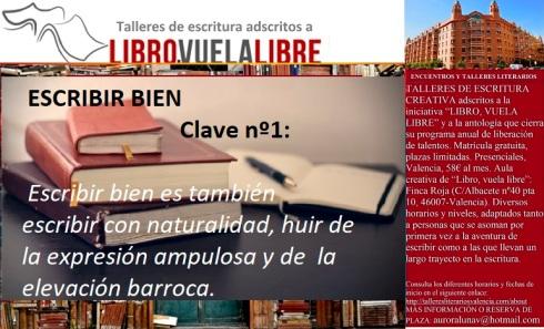 Cursos en Valencia de LIBRO, VUELA LIBRE. Claves para escribir bien