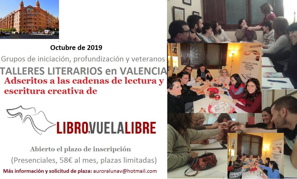 Curso 2019-20. Inscripciones abiertas en los talleres de escritura creativa de LIBRO, VUELA LIBRE