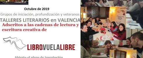 Octubre de 2019. Comienzan los talleres de escritura de LIBRO, VUELA LIBRE en Valencia