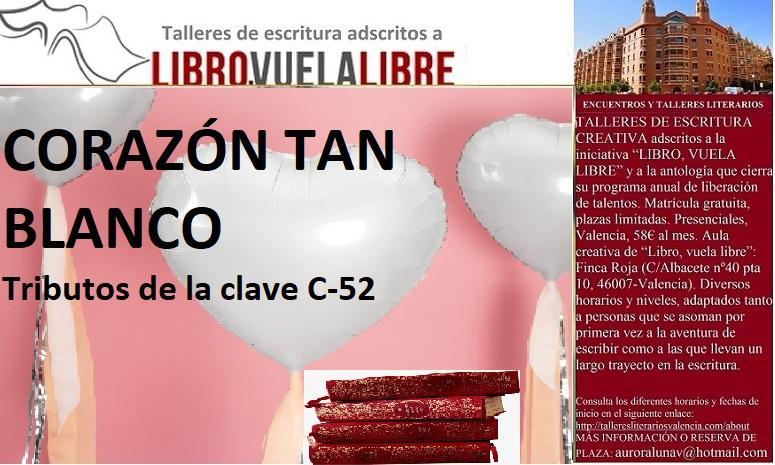 Tributos de la clave C-52 en el taller de escritura creativa de LIBRO, VUELA LIBRE en Valencia