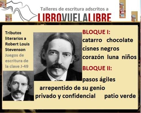 Juegos de escritura de Robert Louis Stevenson en los cursos de escritura de Libro vuela libre