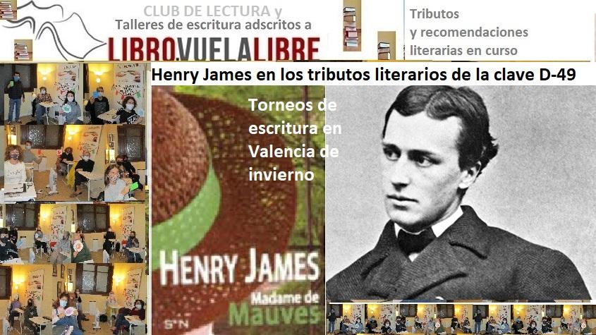 Club de lectura en Valencia de LIBRO VUELA LIBRE: la narrativa de Henry James y las actividades de creación literaria de la clave  D-49