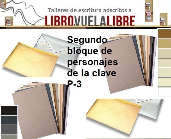 Taller de novela en Valencia de LIBRO VUELA LIBRE, personajes de los sobres neutros